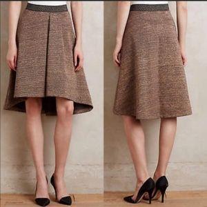 Anthropologie Glistened Hi/Low Sweater Skirt